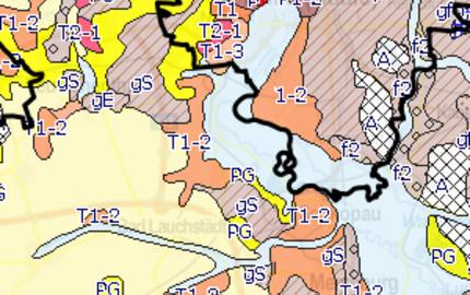 Menu: Geologische Übersichtskarte