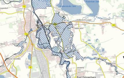 Menu: Überschwemmungsgebiete © Brain SCC